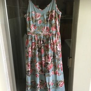 NEW FORE DRESS IN  shades of blue with roses